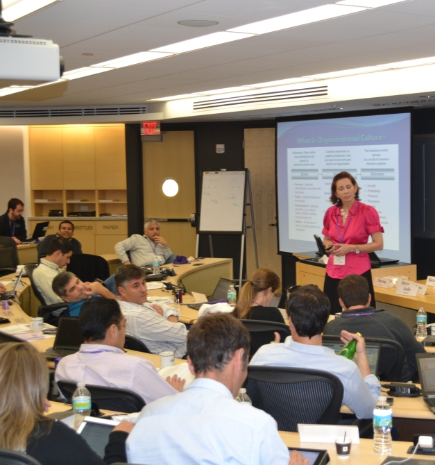 "Sara Baker, EMP87, presenting ""Best Practices in M&A"" for the Business Card Series"