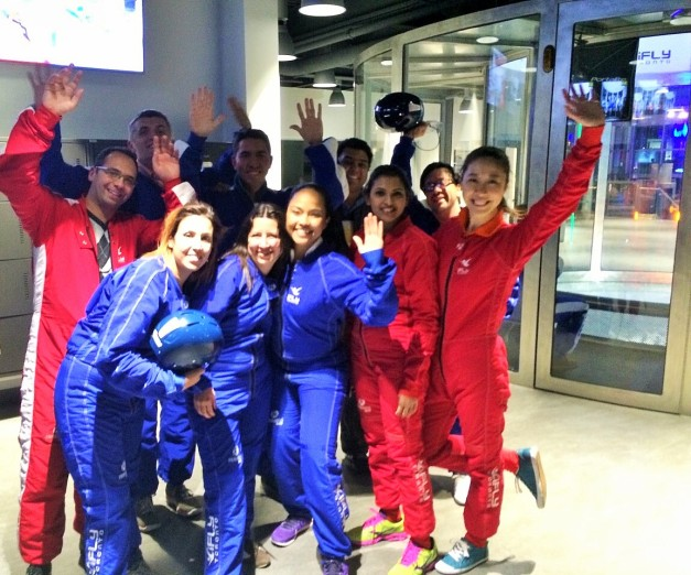 Students took a break from their studies to skydive in Toronto.
